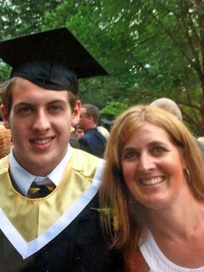 Sue Kruczek with her late son Nick graduating from Guilford High School. Photo: Contributed Photo / Contributed Photo / New Haven Register contributed