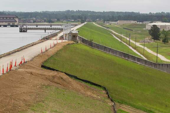 The Lake Conroe dam control by the San Jacinto River Authority is seen, Tuesday, May 7, 2019, in Conroe.