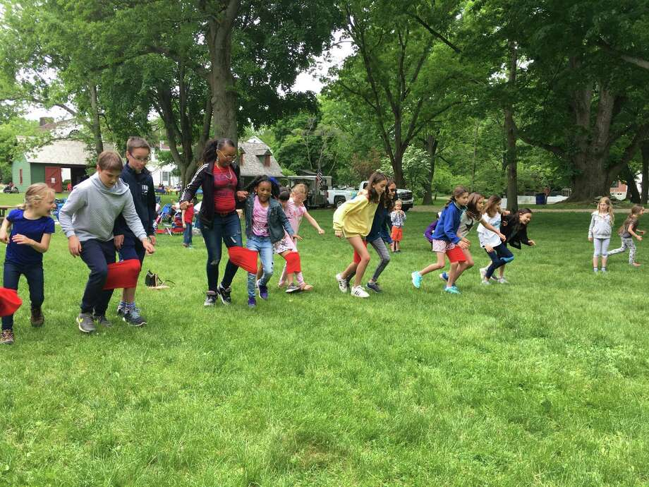 A three-legged race will be among the activities at the Fairfield Museum's annual Memorial Day Picnic May 27. Photo: Fairfield Museum / Contributed Photo