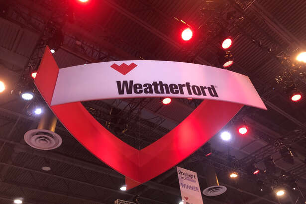 Struggling oilfield service company Weatherford International had a large booth the at the Offshore Technology Conference on Wednesday, May 8, 2019. Headquartered in Switzerland and with a large presence in Houston, the company posted a $2.8 million loss on $5.7 billion of revenue in 2018.