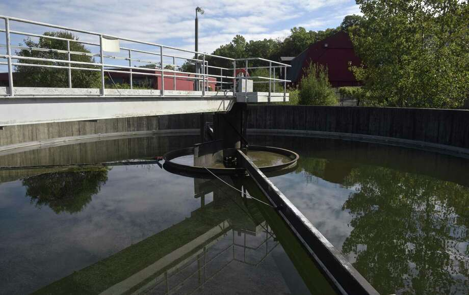 A settling tank at the Ridgefield South Street Wastewater Treatment Facility. Friday, October 5, 2018, in Ridgefield, Conn. Photo: H John Voorhees III / Hearst Connecticut Media / The News-Times