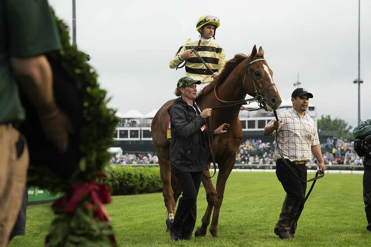Flavien Prat atop Country House at the Kentucky Derby, at Churchill Downs in Louisville, May 4. A reader comments on Trump's viral Tweet, which criticizes the winning horse.
