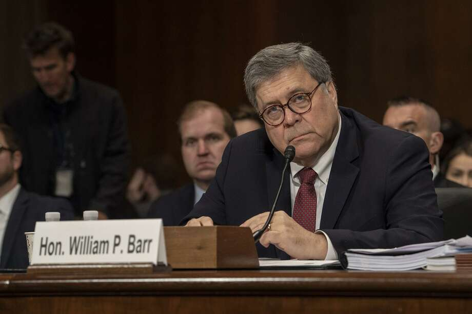 U.S. Attorney General William Barr testifies before the Senate Appropriations Committee in the Dirksen Senate Office Building on May 1. Barr did his job in releasing his summary of the Mueller report. Photo: Ken Cedeno /TNS / Sipa USA
