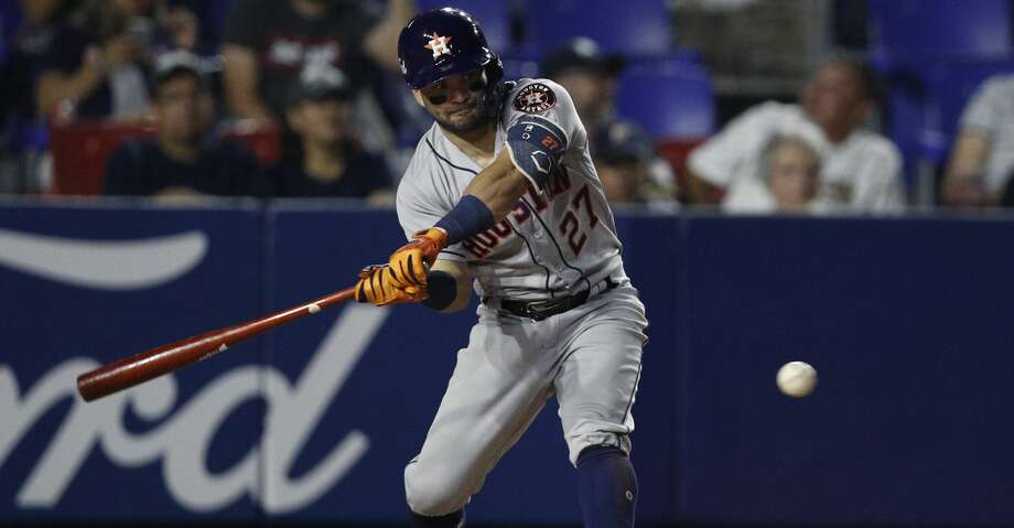 PHOTOS: Astros game-by-game Houston Astros' Jose Altuve eyes a pitch from Los Angeles Angels' Chris Stratton during the eighth inning of a baseball game, in Monterrey, Mexico, Saturday, May 4, 2019. (AP Photo/Rebecca Blackwell) Browse through the photos to see how the Astros have fared in each game this season. Photo: Rebecca Blackwell/Associated Press