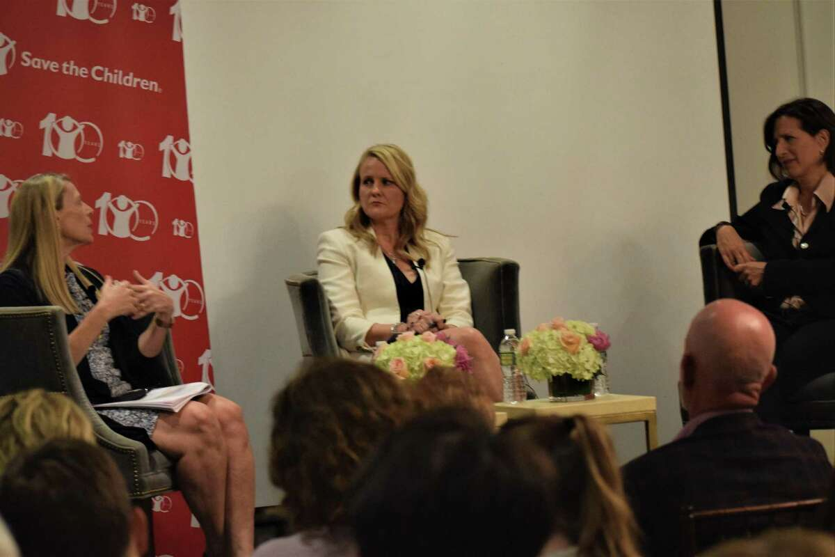 Carolyn Miles, president & CEO of Save the Children; Marcia Biggs, special correspondent for