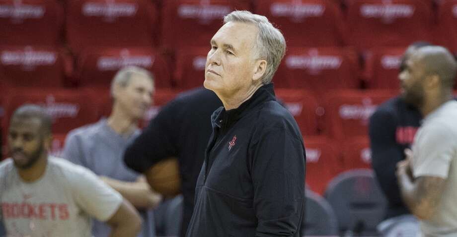 PHOTOS: Rockets game-by-game Houston Rockets head coach Mike D'Antoni watches his team warm up during Rockets practice at Toyota Center on Friday, May 3, 2019, in Houston. The Rockets, down 0-2 in the NBA Western Conference semifinals, play the Golden State Warriors in Game 3 on Saturday. Browse through the photos to see how the Rockets fared in each game this season. Photo: Brett Coomer/Staff Photographer