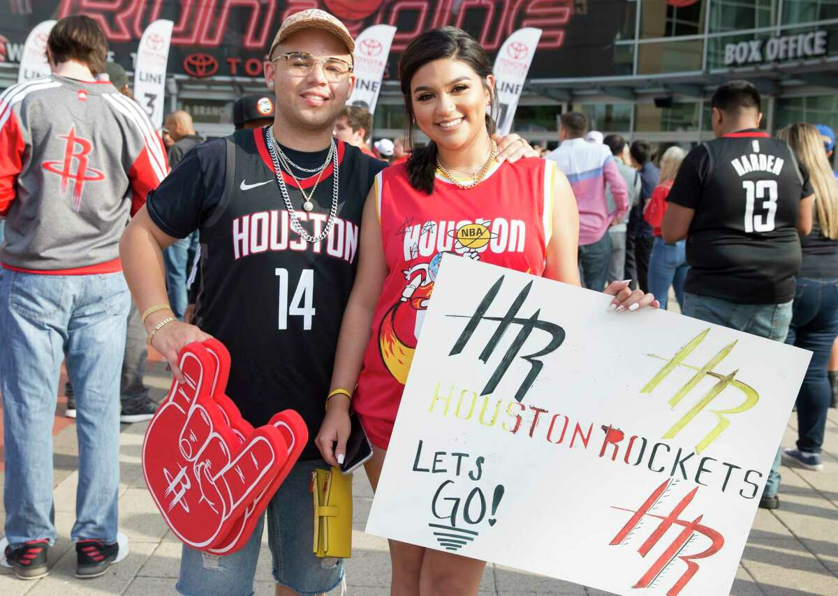 PHOTOS: A look at Rockets fans at Game 6 against the Warriors Houston Rockets fans pose for a photograph before Game 6 of the NBA Western Conference semifinals against the Golden State Warriors on Friday, May 10, 2019, in Houston . Browse through the photos above for a look at Rockets fans before Game 6 against the Warriors ...
