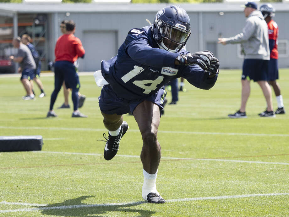D.K. Metcalf will play a big role in the Seahawks' effort to compensate for Doug Baldwin.  Photo: Icon Sportswire/Getty Images