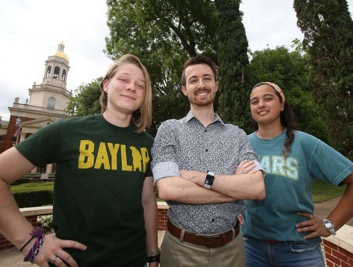 Baylor students, from left, Anna Conner, Hayden Evans and Elizabeth Benton belong to a LGBTQ support group seeking recognition at Baylor.