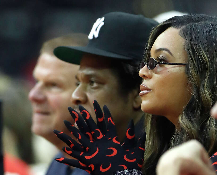 PHOTOS: Take a look at which celebrities were at Game 6 of the Rockets-Warriors series on Friday night Beyonce and Jay Z watch the first half of Game 6 of the NBA Western Conference semifinals between the Houston Rockets and the Golden State Warriors at Toyota Center on Friday, May 10, 2019, in Houston. Browse through the photos above to see which celebrities were at the Rockets-Warriors game on Friday night ... Photo: Karen Warren, Staff Photographer / © 2019 Houston Chronicle