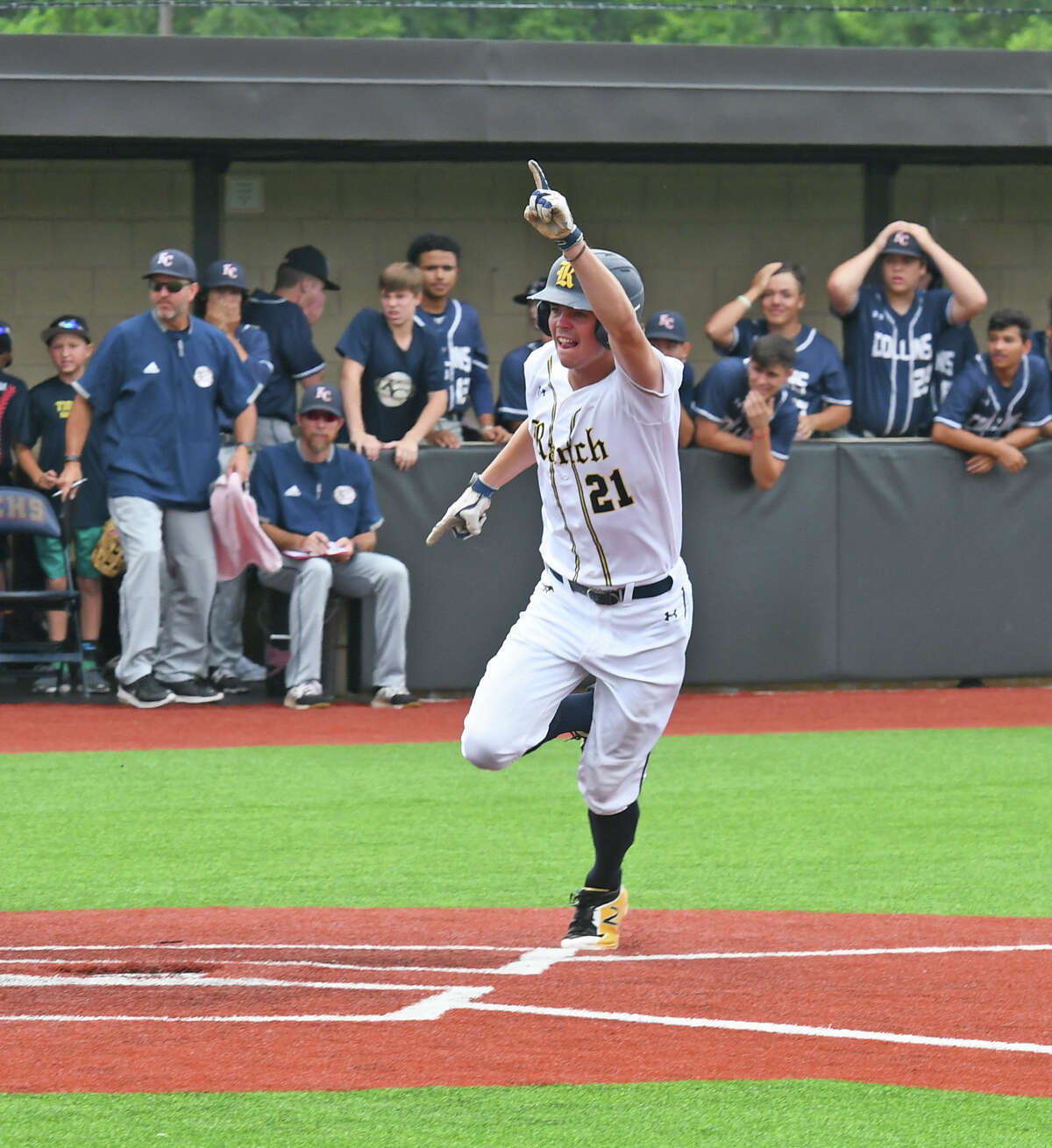 Cy Ranch pitcher JJ Goss, Texas A& commit, gave up two runs on four hits while striking out six in seven innings.