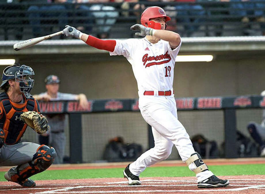 Jacksonville State's Alex Webb hit a walk-off grand slam home run Friday night, lifting his team to a 6-2 victory over SIUE. Photo: Jacksonville State Athletics