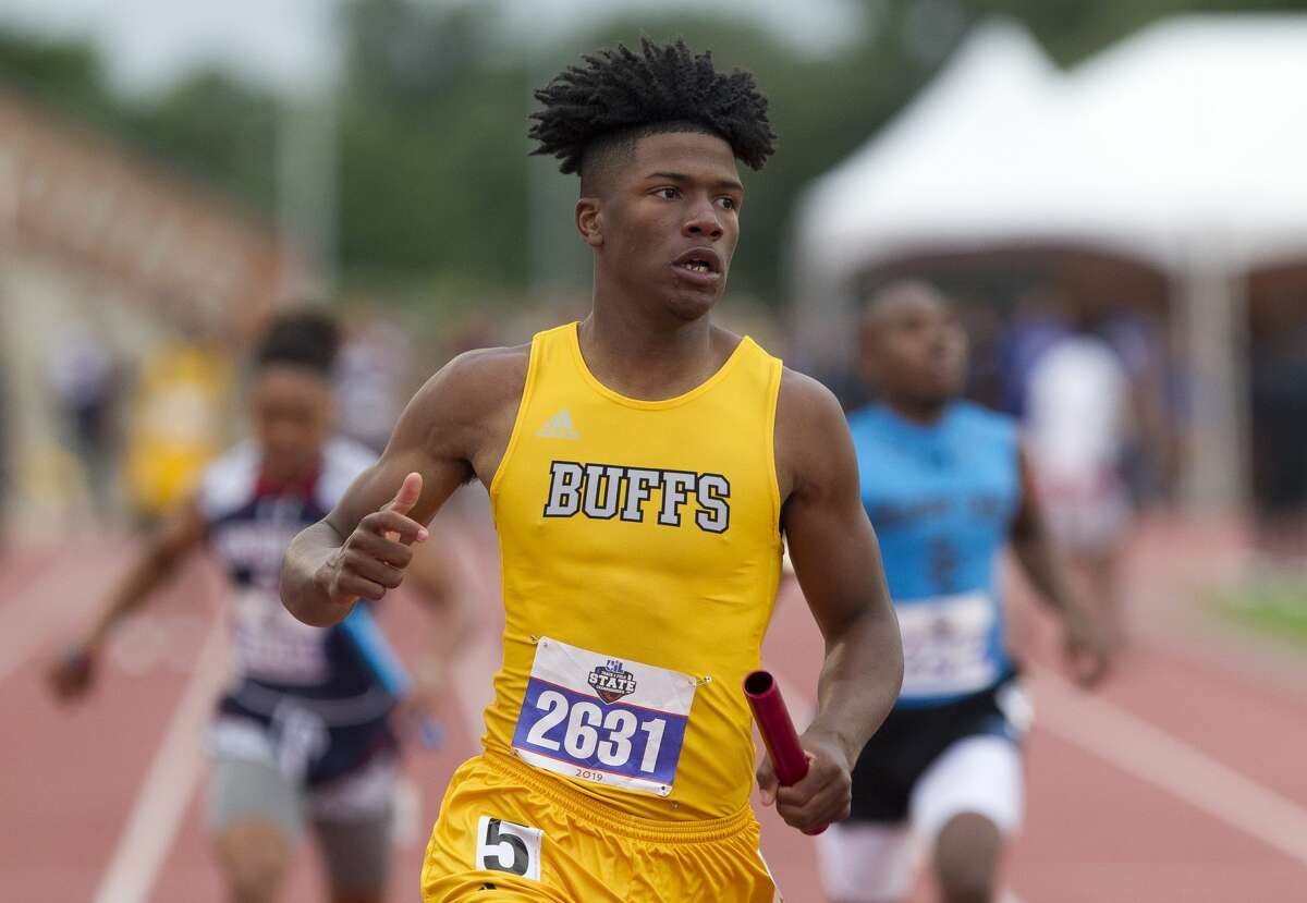 Fort Bend Marshall took first place in the 5A boys 400-meter relay during the UIL State Track & Field Championships at Mike A. Myers Stadium, Friday, May, 10, 2019, in Austin.