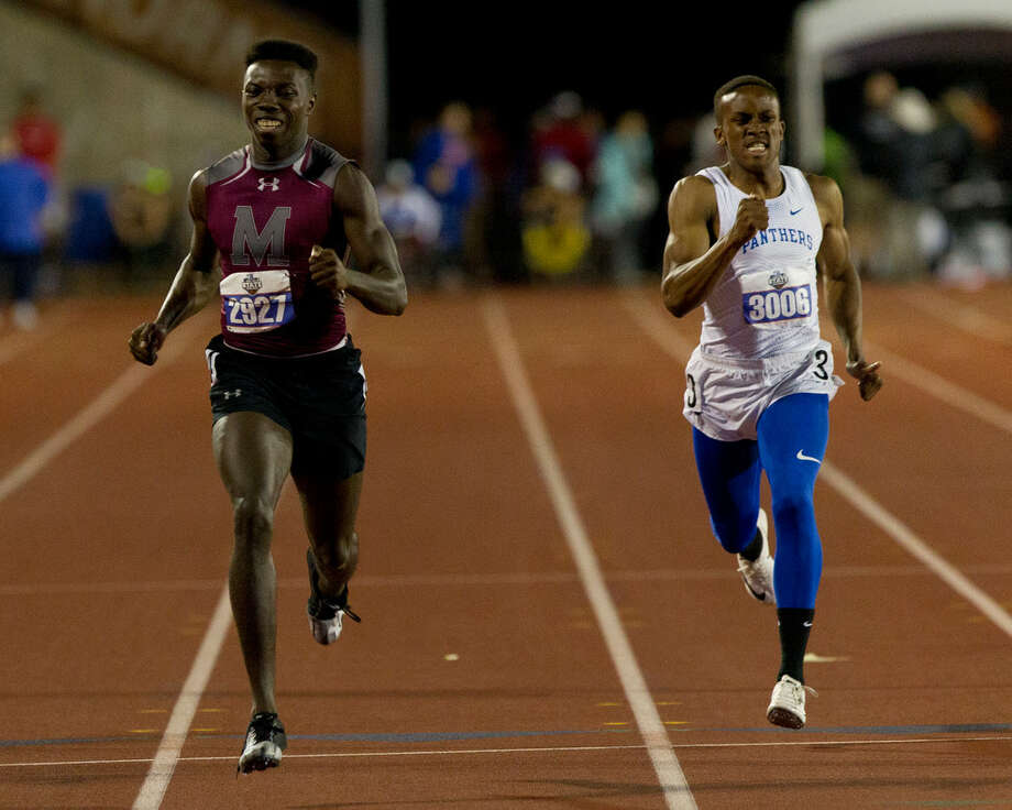 Darren Battle of Magnolia competes in the 5A boys 400-meter dash during the UIL State Track & Field Championships at Mike A. Myers Stadium, Friday, May, 10, 2019, in Austin. Photo: Jason Fochtman