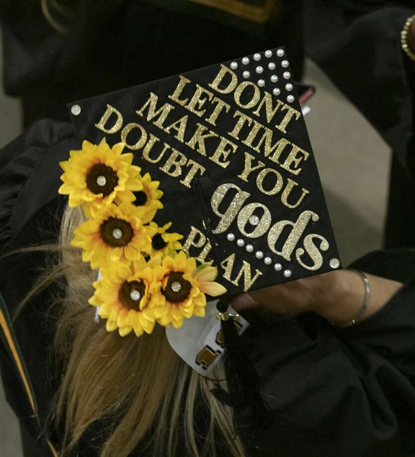 Midland College students decorated their caps for graduation 05/10/19 evening at the Chaparral Center for the 46th Commencement Ceremony. Tim Fischer/Reporter-Telegram Photo: Tim Fischer/Midland Reporter-Telegram