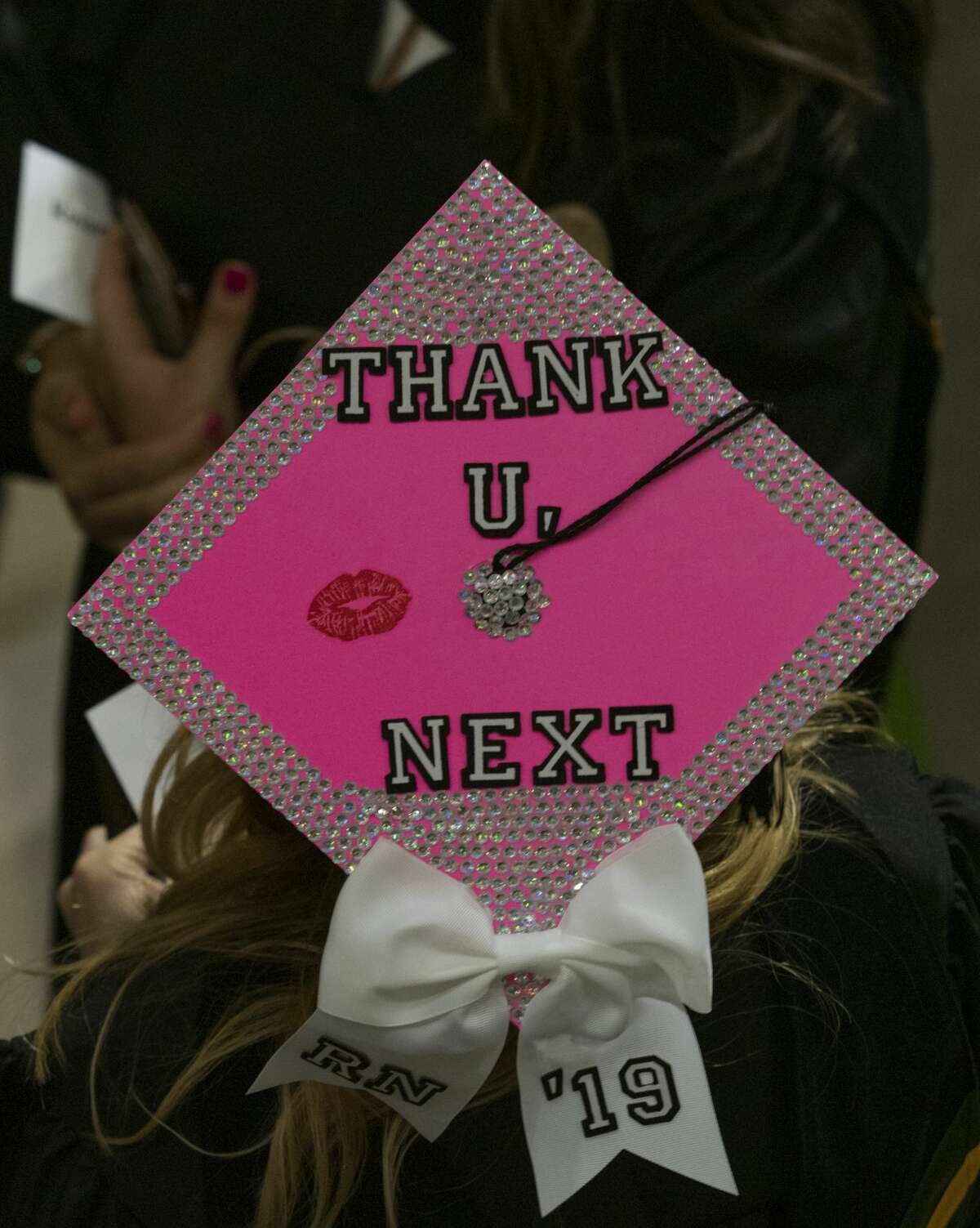 Midland College students decorated their caps for graduation 05/10/19 evening at the Chaparral Center for the 46th Commencement Ceremony. Tim Fischer/Reporter-Telegram