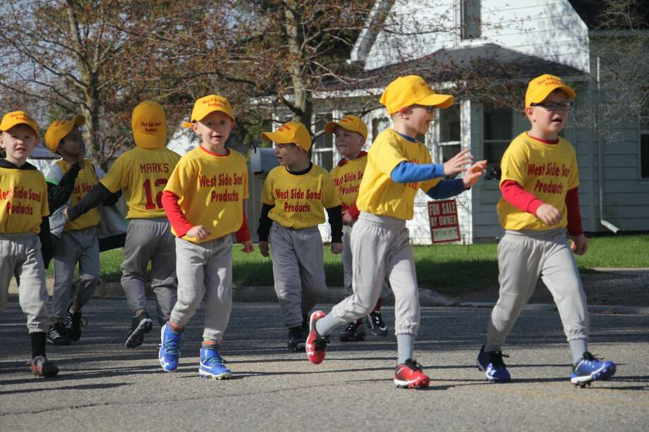 Bad Axe Little League held its opening ceremonies Saturday morning at the ball diamonds in downtown. Photo: Seth Stapleton/Huron Daily Tribune