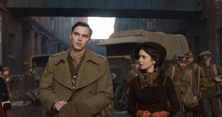 """Nicholas Hoult, left, and Lily Collins in """"Tolkien."""" MUST CREDIT: Handout courtesy of Fox Searchlight Pictures Photo: Fox Searchlight Pictures / Handout"""