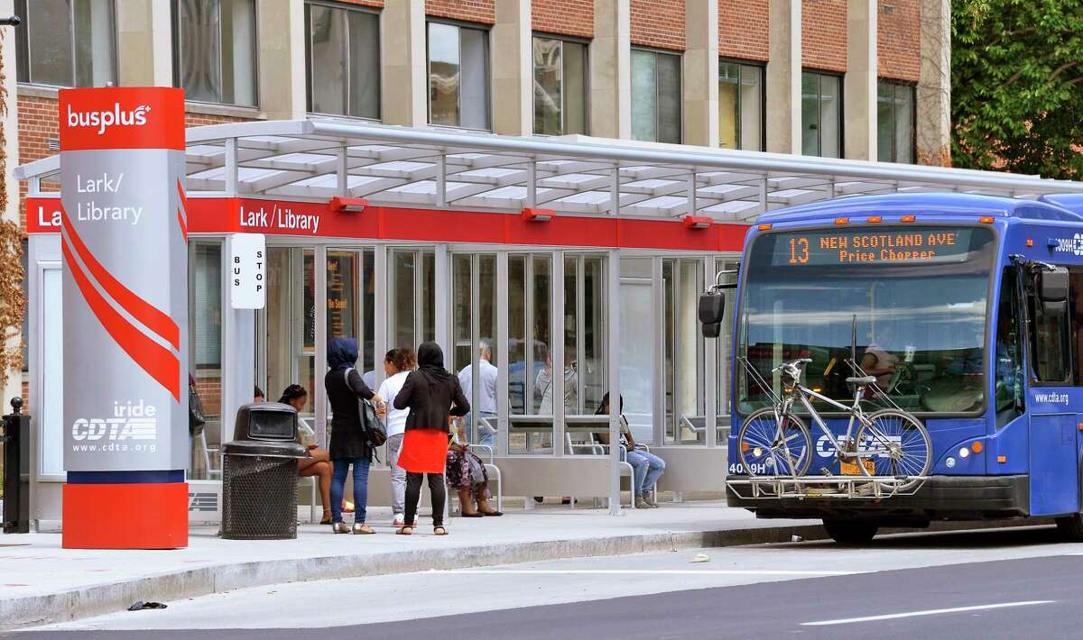 CTDA's new Bus Plus station on Washington Avenue Thursday July 12, 2018 in Albany,NY. (John Carl D'Annibale/Times Union)