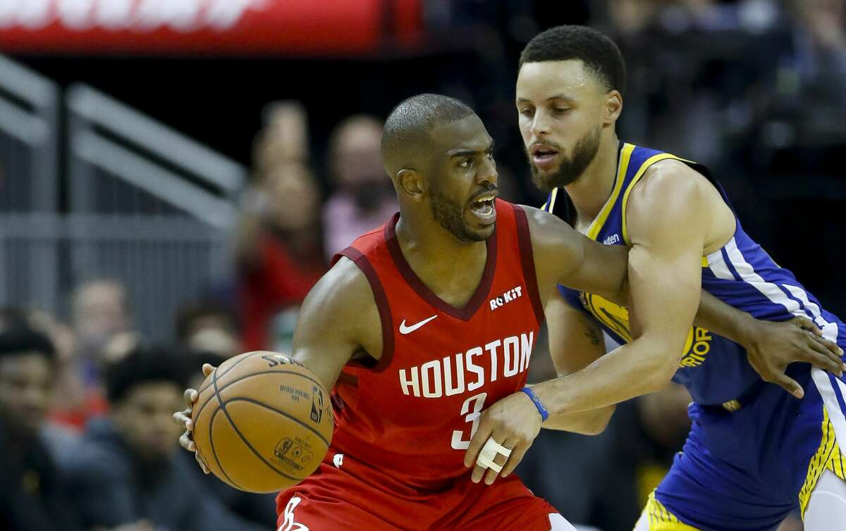 Rockets development coach Irv Roland on Saturday disputed a report that Rockets guard Chris Paul booted Warriors star Stephen Curry off the court the night before the Rockets faced the Warriors in Game 6.