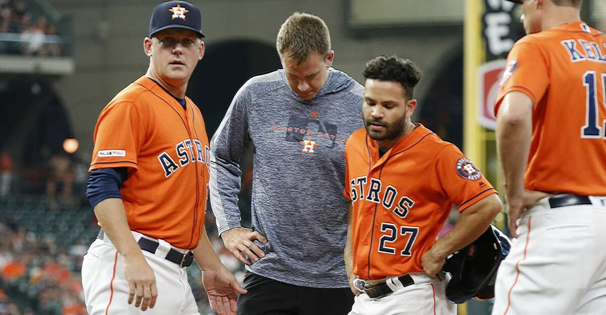 PHOTOS: Astros game-by-game Houston Astros second baseman Jose Altuve (27) leaves the game in the 1st inning after getting to first base during an MLB baseball game at Minute Maid Park Friday, May 10, 2019, in Houston. Browse through the photos to see how the Astros have fared in each game this season.