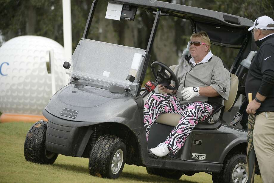 John Daly, who uses a cart on the PGA Tour Champions circuit, will be allowed to drive one at the PGA Champion- ship. Photo: Phelan M. Ebenhack / Associated Press 2018