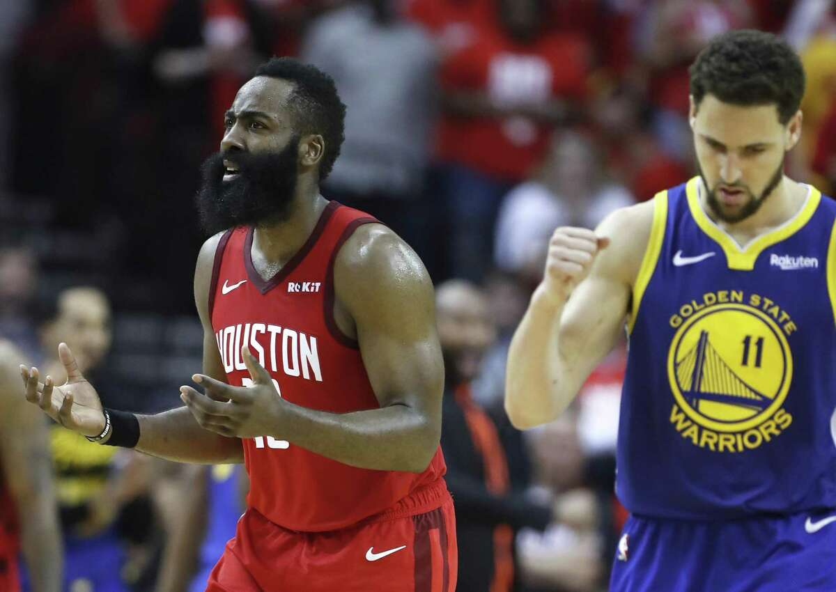 Rockets guard James Harden set career highs this postseason, averaging 31.6 points, 6.6 assists and 6.9 rebounds while shooting 35 percent on 3-pointers ...