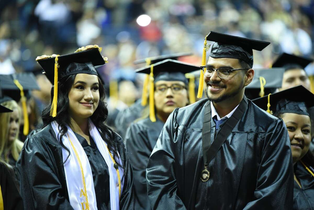 Students from LISD's Early College and Laredo College students walked the stage to recieve their certificate or Associate's Degree as their friends and families cheered them during the Laredo College Commencement Adress at Sames Auto Arena, Friday, May 10, 2019.