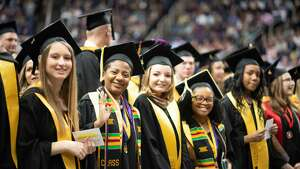 Nearly 1,400 students were celebrated at the College of Saint Rose commencement ceremony at the Times Union Center on Saturday, May 11, 2019.