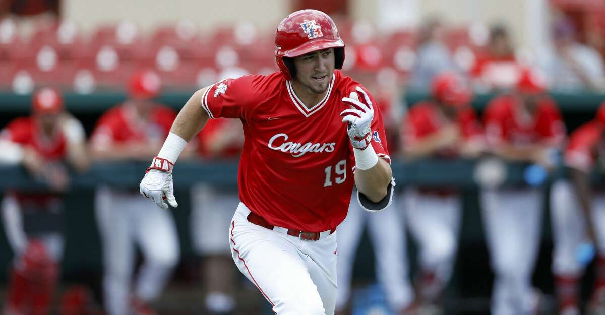 FILE PHOTO - Houston's Jared Triolo (19) runs down the first base line during an UNLV at University of Houston NCAA college baseball game, Sunday, May 5, 2019, in Houston. (AP Photo/Aaron M. Sprecher)