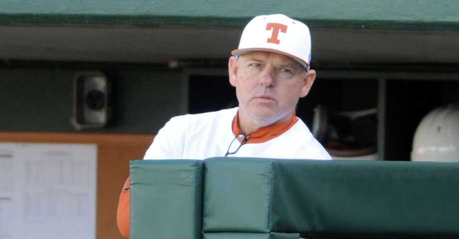 AUSTIN, TX - FEBRUARY 25: Texas Longhorn head coach David Pierce watches action from the dugout during game between the Texas Longhorns and the UConn Huskies on February 25, 2017 at UFCU Disch-Falk Field in Austin, TX. The UConn Huskies defeated the Texas Longhorns 2 - 1. (Photo by John Rivera/Icon Sportswire via Getty Images) Photo: Icon Sportswire/Icon Sportswire Via Getty Images / ©Icon Sportswire (A Division of XML Team Solutions) All Rights Reserved