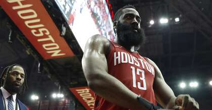 698708acd8a5 Houston Rockets guard James Harden (13) walks off the court at the end of Game  6 of the NBA Western Conference semifinals at Toyota Center on Friday