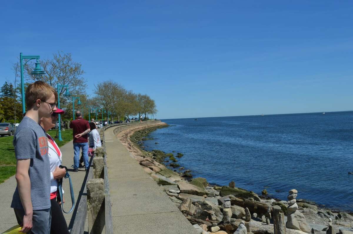 It was a beautiful day for a walk at Saint Mary's By the Sea in Black Rock. People stopped to look at the