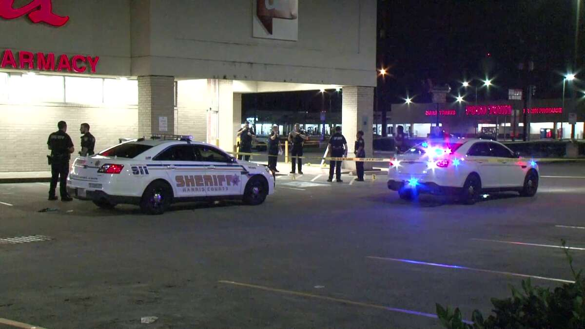 A security guard at a Walgreens on FM 1960 opened fire on two armed, masked men