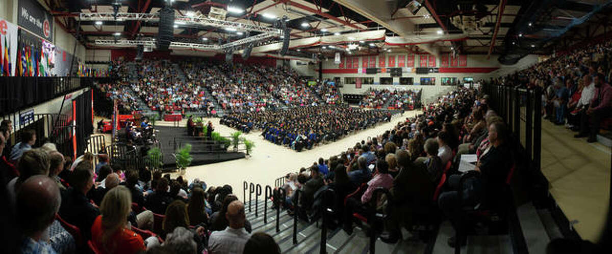A full house for the evening School of Education, Health and Human Behavior ceremony Friday at SIUE.