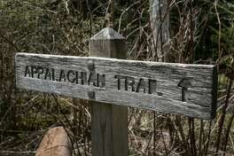 CHEROKEE, NC - MAY 11: A trail sign at Clingmans Dome, a major scenic viewing point along the Appalachian Trail, is viewed on May 11, 2018 near Cherokee, North Carolina. The Great Smoky Mountains National Park straddles the Tennessee and North Carolina borders in the heart of the Appalachian Mountain Range. (Photo by George Rose/Getty Images)
