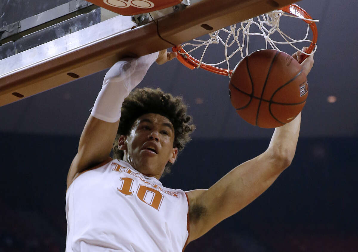 After a Big 12 freshman of the year campaign, Texas' Jaxson Hayes has set his sights on the NBA. The lottery drawing is Tuesday night.