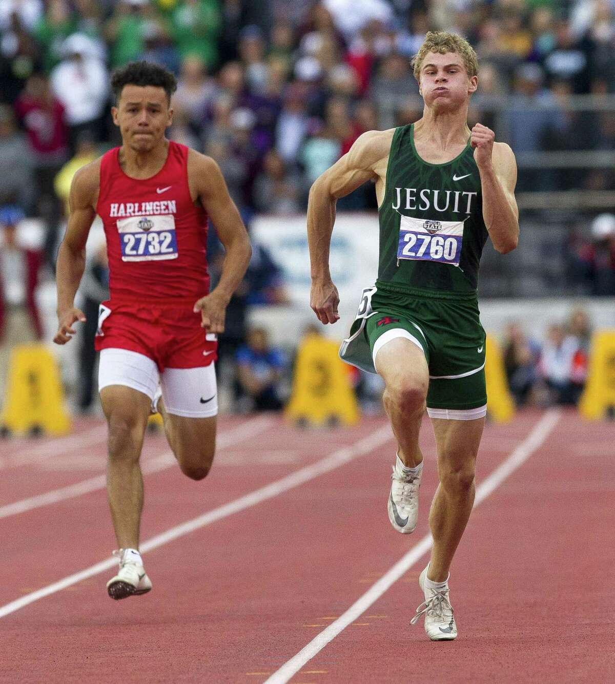 Strake Jesuit senior Matthew Boling's 10.13-second 100-meter dash. set Saturday, is a national record among high school events.