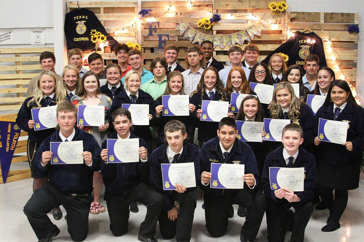 Coldspring FFA members celebrated another successful year at the 2019 Coldspring FFA Chapter Awards on Thursday, May 9.