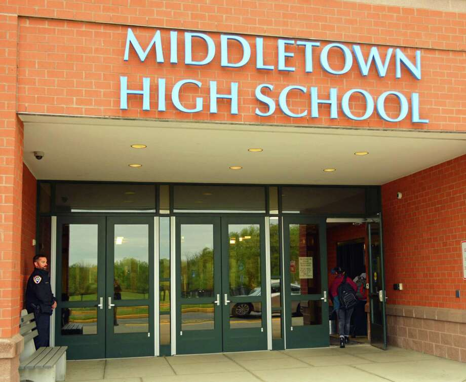 "A social media threat against Middletown High School Friday, which caused parents across the city to keep their students home Monday, was ""unsubstantiated and not credible,"" according to the superintendent. Photo: Cassandra Day / Hearst Connecticut Media"