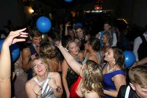 """Laker students packed into the Pasta House in Kinde on Saturday for their prom celebration, which was themed, """"Written in the Stars."""""""