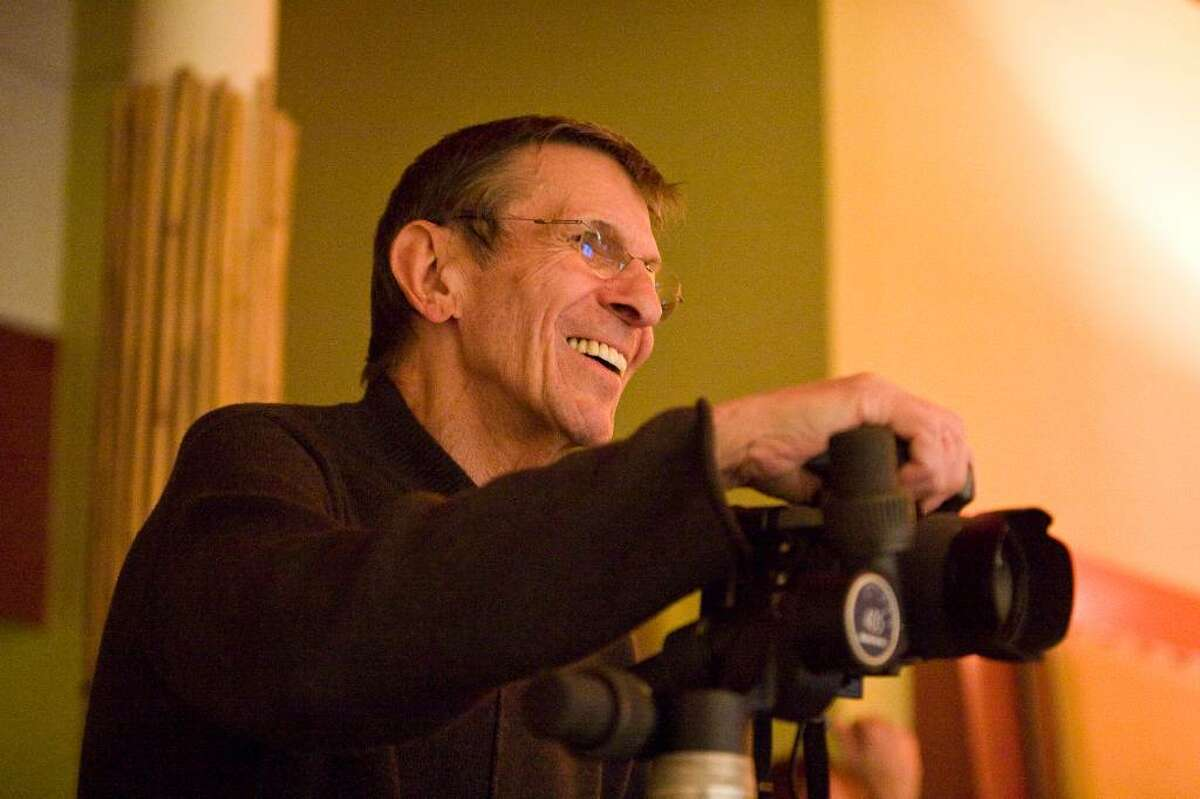 Leonard Nimoy at work on