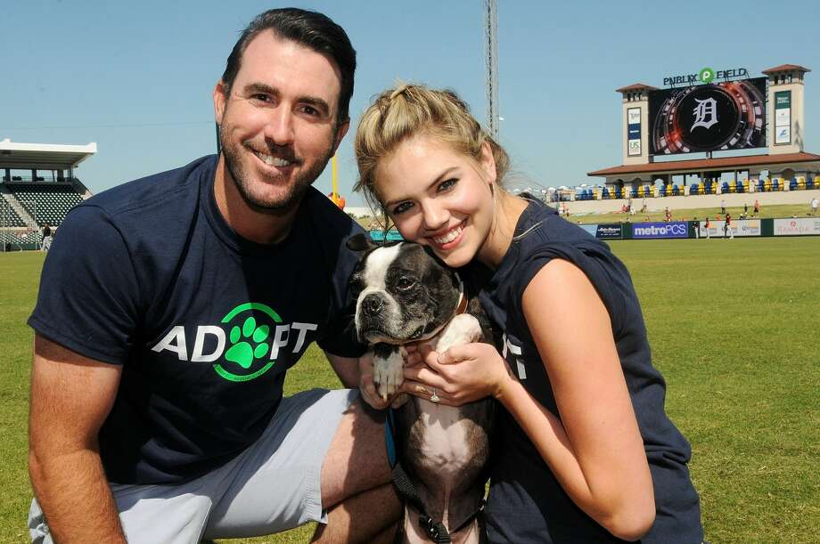 """Kate and I couldn't be prouder to give these veterans their new service dogs, and give these dogs a home, a purpose, and a meaningful life,"" Verlander said. Photo: (Photo By Gerardo Mora/Getty Images For Wins For Warriors Foundation)"