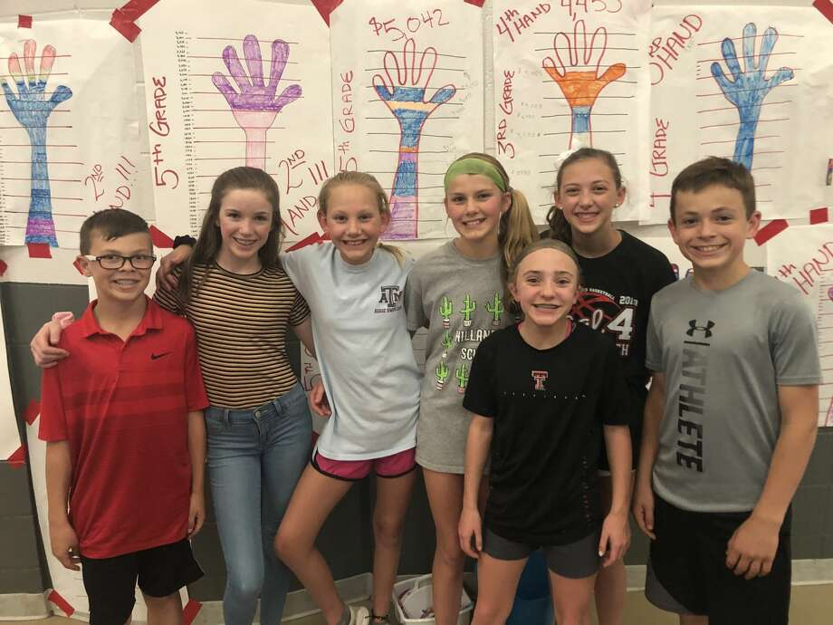 Hillander-MCRC: Davis Ham, from left, Aubrey Gray, Emi Davenport, Peyton Thompson, Brooklyn Pearson and Cutter Lange; and Ryann Walton, front. Photo: Courtesy Photo