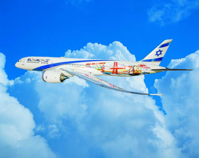 On Friday, El Al canceled its SFO-Tel Aviv flight. Pictured: El Al's Boeing 787 Dreamliner with a special San Francisco livery for it inaugural flights