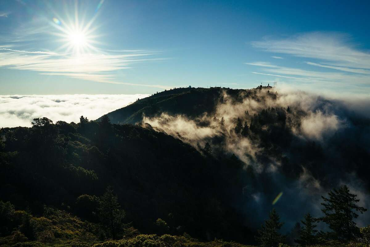 Fog rolls over the hills of Mount Tamalpais State Park in Mill Valley, Calif., on Wednesday, Dec. 19, 2018.