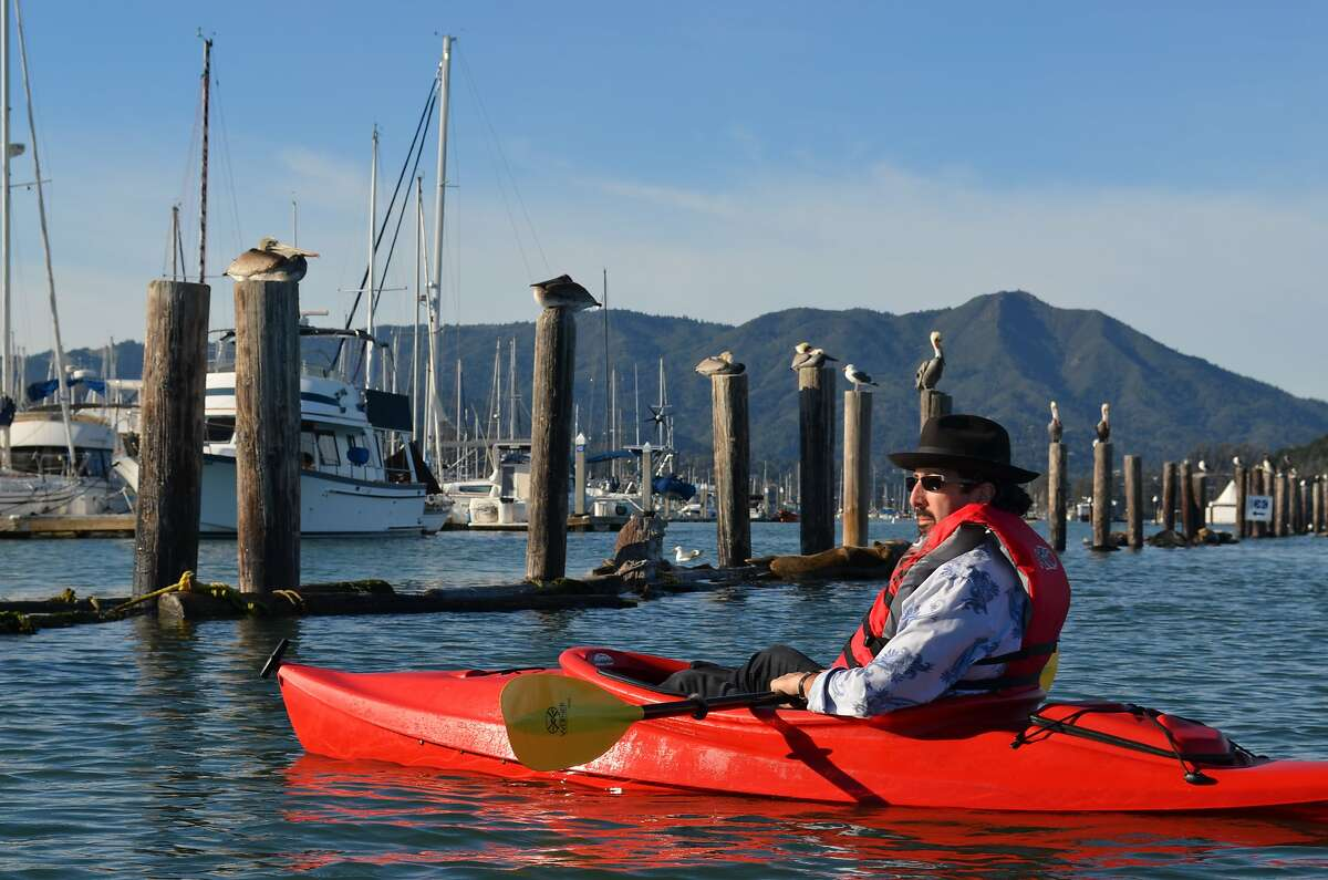 Magician Jay Alexander lives on a houseboat in Sausalito.