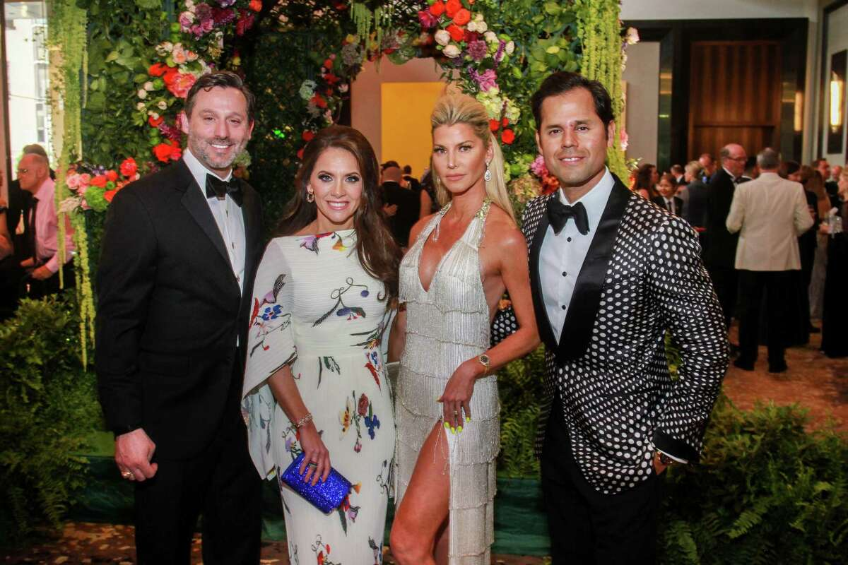 Brad and Joanna Marks, from left, with Stefanie and Manolo Elias at the Houston Symphony Ball.