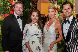 EMBARGOED FOR REPORTER UNTIL MAY 14 Brad and Joanna Marks, from left, with Stefanie and Manolo Elias at the Houston Symphony Ball.