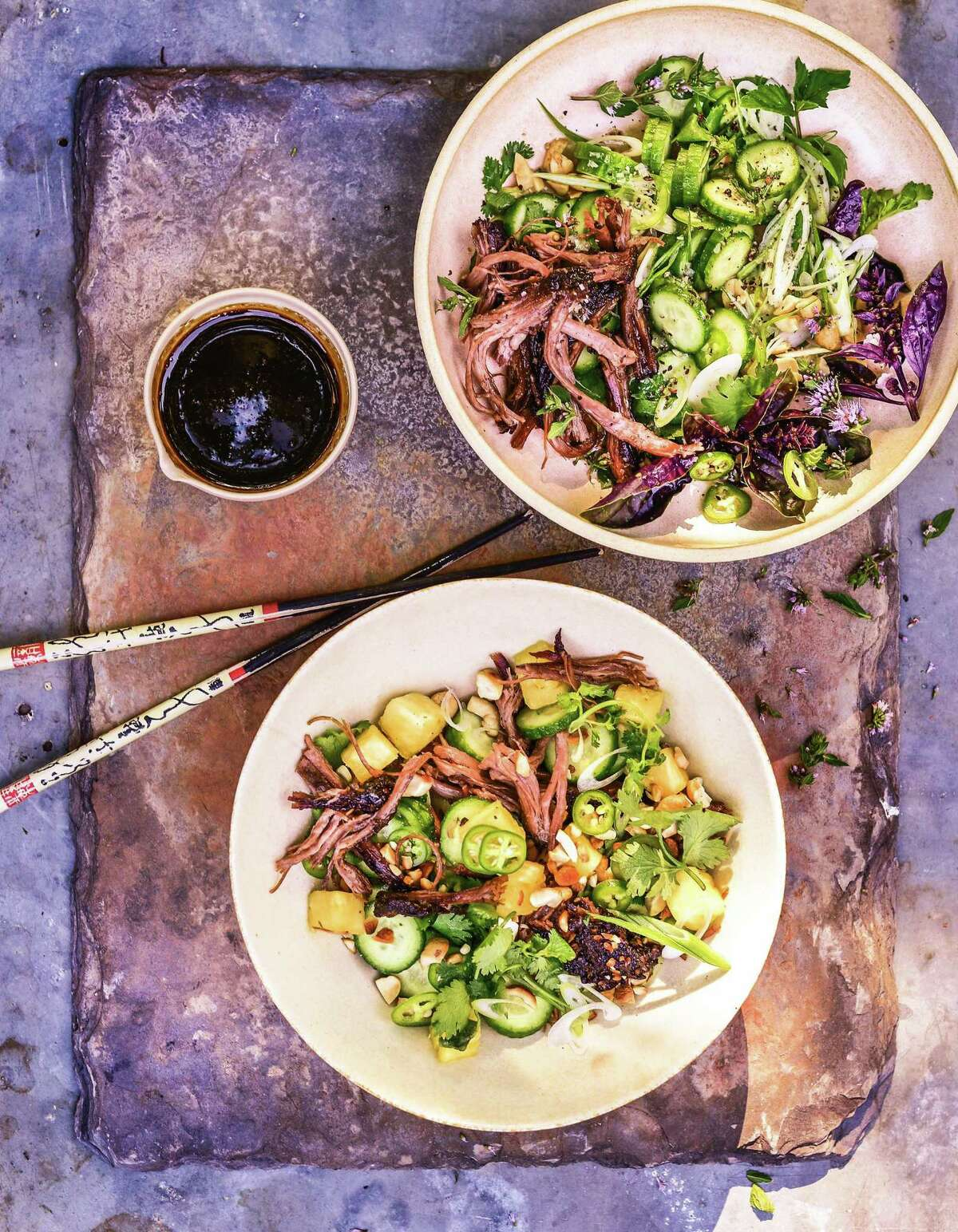 """Vietnamese Crispy Salad from""""The Brisket Chronicles: How to Barbecue, Braise, Smoke, and Cure the World's Most Epic Cut of Meat"""" by Steven Raichlen (Workman, $19.95)."""
